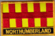 Northumberland Embroidered Flag Patch, style 09.